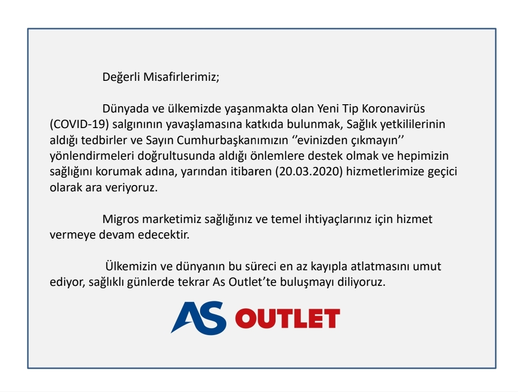 AS OUTLET